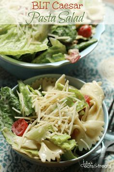 BLT Caesar Pasta Salad - Julie's Eats & Treats