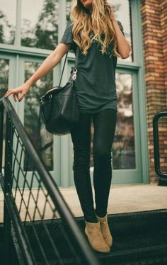 Full black outfit