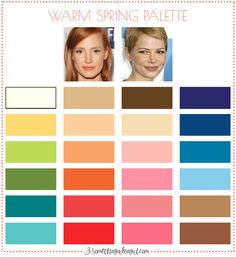 Best colors for Warm Spring seasonal color women; Warm Spring color palette | #WarmSpring #colorpalette