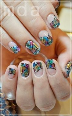 These are so pretty I could never achieve these results but still gorgeous! Looks like stained glass!