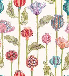 Voyage Maison Sutami - Sutami Wallpaper – Voyage Outlet Special Wallpaper, Dining Room Wallpaper, Crafts Beautiful, Wallpaper Samples, All Paper, Seed Pods, Brush Strokes, Designer Wallpaper, Surface Design