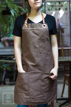 ONME COZY APRON - Canvas apron & Leather Apron , Coffee apron , restaurant apron
