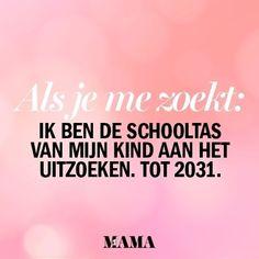 Zodra ik klaar ben heeft-ie al drie diplomas op zak... #kekmama #kekmamamagazine #mama #kind #moederschap #schooltas #school