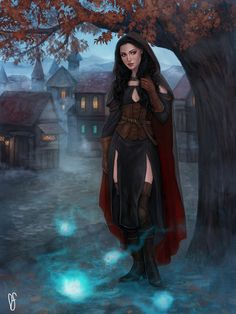 f Warlock Leather Armor Cloak casting female urban Village street Farmland hills deciduous forest Willo-wisps story Demitria Rione by DancinFox Wizard DeviantArt med & xlg (saved) Fantasy Women, Fantasy Rpg, Medieval Fantasy, Fantasy Artwork, Fantasy Girl, Fantasy Character Design, Character Creation, Character Concept, Character Art