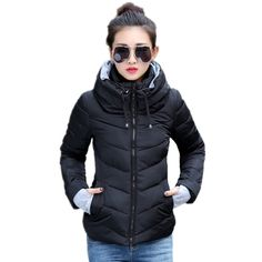 0367ad3ecb852f 2018 New women plus size long sleeve warm light down padded winter jacket  women parkas for women winter coat fashion jacket-in Parkas from Women's  Clothing ...