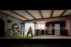 True West. The Tricycle Theatre, London. Scenic design by Max Jones.
