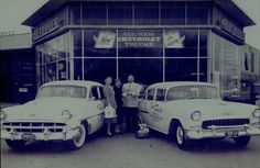 Chevrolet and Oldsmobile dealership late 1954 I guess(?)