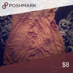 Cap sleeve blouse Orange floral lace at top. Can be belted Rue 21 Tops Blouses