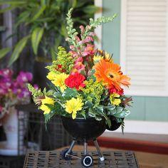 An adorable, summery, flower arrangement!