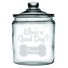 Who's A Good Dog Personalized Dog Treat Jar