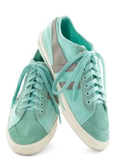 I have these in pink, so comfortable!  Gola Me, Myself, and Sky Sneaker, #ModCloth