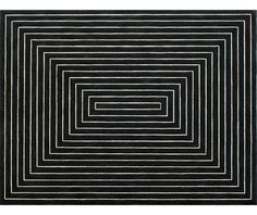"""Black Painting [1959]. Frank Stella, upon moving to NYC, he reacted against the  abstract expressionist movement, instead finding himself drawn towards the """"flatter"""" surfaces of Barnett Newman's work. He began to produce works which emphasized the picture-as-object, rather than the picture as a representation of something. Around this time he said that a picture was """"a flat surface with paint on it - nothing more""""."""