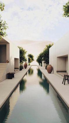 Dream Home Design, Modern House Design, Home Interior Design, Modern Minimalist House, Modern Houses, Modern Interior, Architecture Design, Minimalist Architecture, Exterior Design