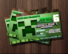http://thepodomoro.com/collections/birthday-invitation/products/minecraft-invitation