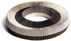 Nel Linssen, Netherlands, Necklace, 1986, paper, elastic thread
