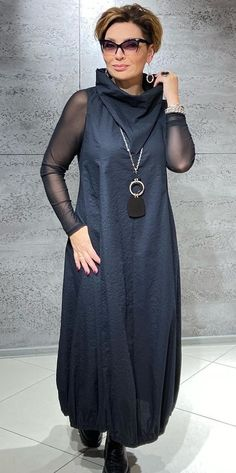 60 Fashion, Over 50 Womens Fashion, Fashion Over 50, Hijab Fashion, Fashion Dresses, Fashion Design, Elegant Dresses For Women, Stylish Clothes For Women, Simple Dresses