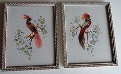 Pair of Glenn F. Bastian Gouach Bird Pictures, Signed