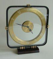A Fabulous 1940's Art Deco Machine Age Jaeger Lecoultre 8 Day Clock