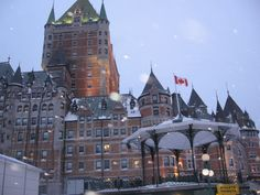 Quebec City in the winter time. I love it there!!
