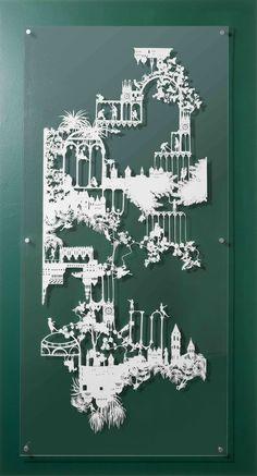 Emma van Leest.  Beautiful paper cutting art.