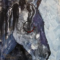"""""""Indian Pony"""" 12""""x12"""" acrylic painting by Caren Goodrich"""