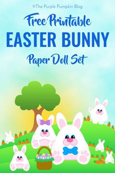 Free Printable Easter Bunny Paper Doll Set - a fun paper craft for kids Easter Activities For Kids, Paper Crafts For Kids, Easter Crafts, Educational Activities, Kids Fun, Easter Ideas, Party Printables, Free Printables, Binder