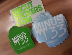 Minus 33 Digital Die-cuts and Transfer Stickers.