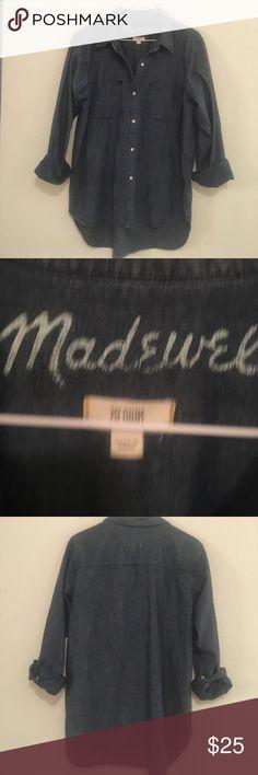 Madewell Denim Shirt, size Medium Madewell Denim Shirt, size Medium Madewell Tops Button Down Shirts