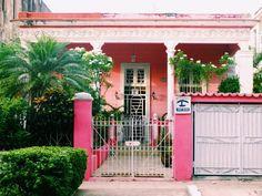 Private pink Casa in Vedado, Havana, Cuba
