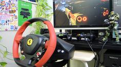 [16] Xbox One Forza 6  Thrustmaster Ferrari 458 Spider Racing Wheel Game...