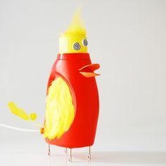 Crazy Duckling Bottlelamp Yellow