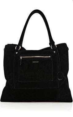 Large soft black suede tote £130 Karen Millen