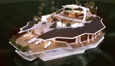 "Austrian-based firm Orsos Islands will impress everyone with their idea of the ultimate getaway, a man-made luxury ""island"" that looks like the most awesome pad in the world. The pad measures 121 feet by 65 feet and can accommodate up to 12 people at the same time, in a total of 6 double rooms, plus 4 staff members."