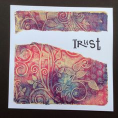 Barbara Gray's Blog. One Day at a Time.: A Tear in the Gelli Plate! Prachtige tutorial