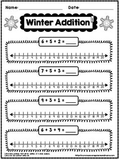 This is a **FREE** SAMPLE PAGE taken from my 1st Grade Winter NO PREP Math Pack. Enjoy! #1stGrade #CommonCore (scheduled via http://www.tailwindapp.com?utm_source=pinterest&utm_medium=twpin&utm_content=post1170091&utm_campaign=scheduler_attribution)