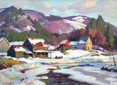 "Aldro T. Hibbard (American 1886-1972) ""Jamaica, Vermont West River"""