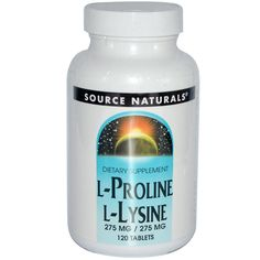 Source Naturals, ugg too big to swallow comfortably - back to the powders for me!   Vitamin C (from calcium ascorbate and magnesium ascorbate)1,147 mg  L-Lysine (from 1,374 mg of free-form, crystalline L-lysine hydrochloride)1.1 g  L-Proline1.1 g  Grape Seed Extract (Proanthodyn) With a Procyanidolic Value of 95100 mg  Hawthorn Berry Extract100 mg