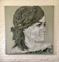 """"""" A smile in my heart """" #figurative art #sober # muted #womanart"""