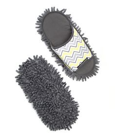 Gray Chevron Chenille Dusting Slipper by Farberware Cleaning on #zulily