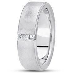 Zambezi Men's Wedding Band in Platinum