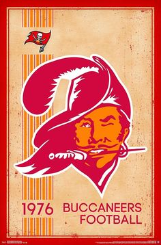 Tampa Bay Buccaneers Vintage Logo 22x34 Football Poster