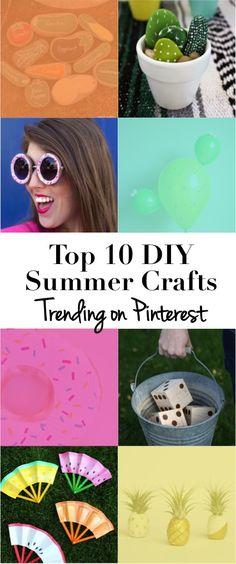 Top 10 DIY Summer Crafts Trending on Pinterest | DiY crafts for kids, backyard, home decor, fashion... all summer fun! | DIY trends on Pinterest right now