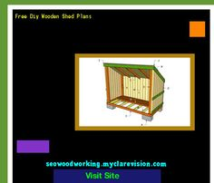 Free Diy Wooden Shed Plans 180845 - Woodworking Plans and Projects!