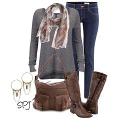 """""""Friendly Hunting Scarf"""" by s-p-j on Polyvore"""