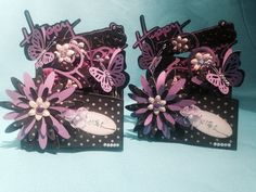 Mother's Day cards ... Cascading card, black & purple Cascading Card, Mothers Day Cards, Purple, Black, Black People, Viola