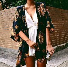 Blouse: kimono lion leo dark blue dress jacket shawl black gold tiger tiger shawl cute velvet cara