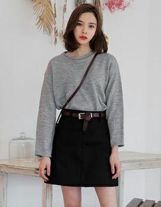ripped-mini-black-denim-skirt | Black Denim Skirt | Pinterest ...