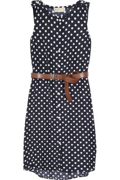 406607c1a97851 MICHAEL Michael Kors - Polka-dot silk dress