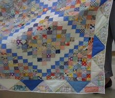Close up of Postage Stamp, Decatur IL  Reminds me of the postage stamp quilt mom made in the 40's.
