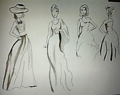 Collage con tinta china